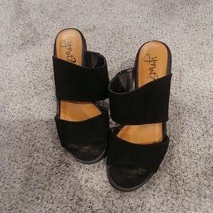Black Stapped Heels